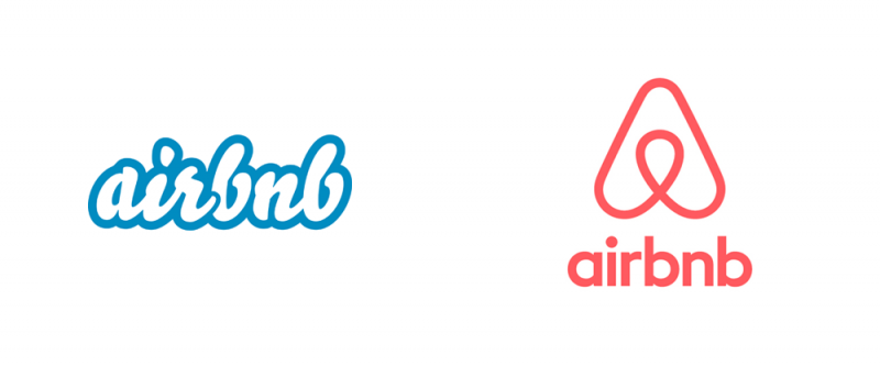 air bnb replaced it intricate logo with flat logo design