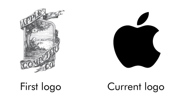 apple logo design journey from intricate to flat logo design