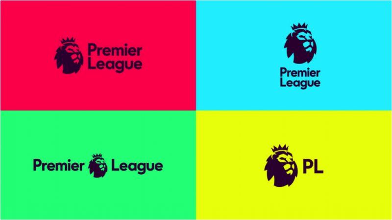 flat logo design is flexible and adaptable just like premier league