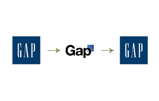 The Gap logo redesign gone wrong