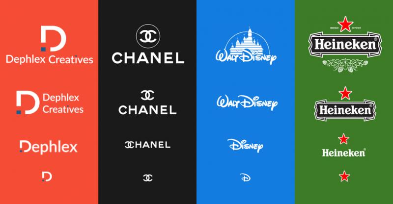 Responsive design in the modern logo